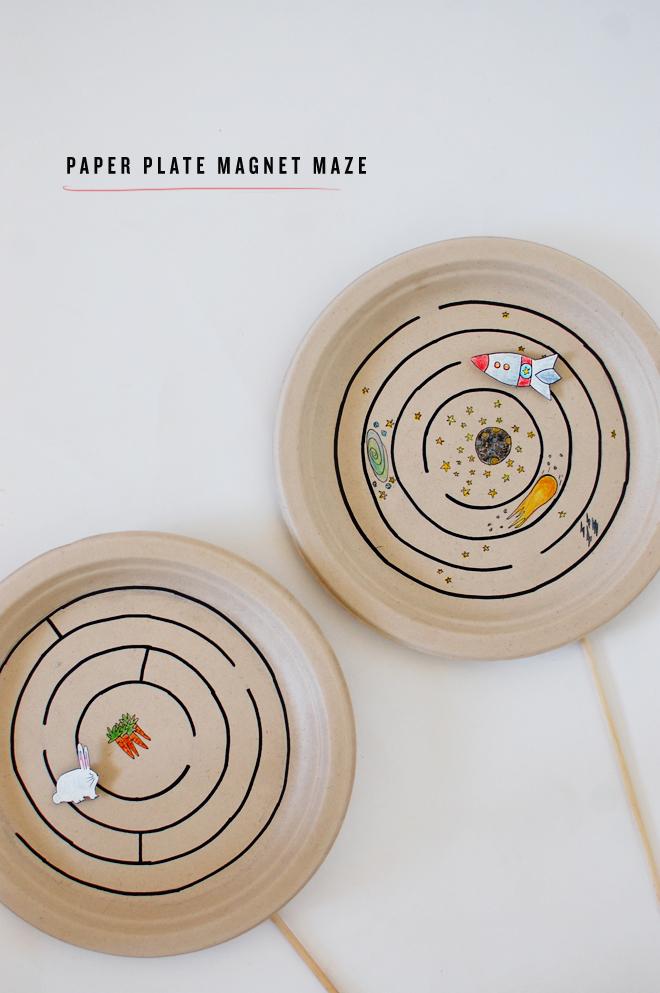 manualidades para niños plato magnetico